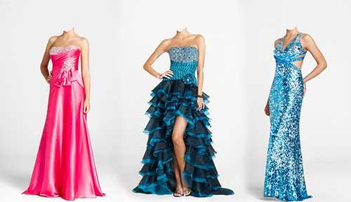 Шаблоны для фотошопа стильное женское платье